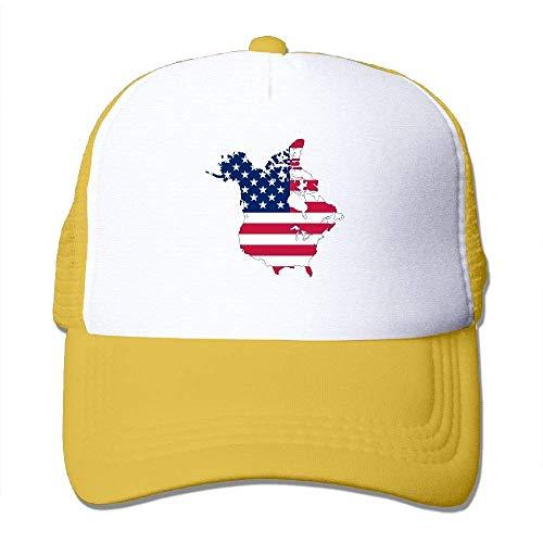 Preisvergleich Produktbild Voxpkrs Flag-Karte von Kanada und der amerikanischen Flagge Adjustbale Baseball Caps Sommer Sun Hat Tracker Cap U8I0013315
