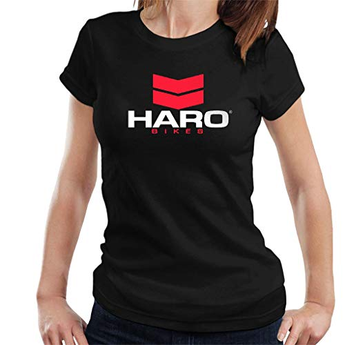 DIANXIAOERR Femme HARO Bikes Logo Easy Short Sleeved Manches Courtes/T-Shirt XX-Large