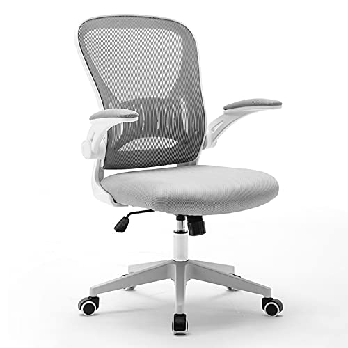 ZRN Sillas giratorias Modernas Mid-Century para escritorios, sillón para Oficina en casa, Estudio, Sala de Estar, tocador, Dormitorio, Gris Negro