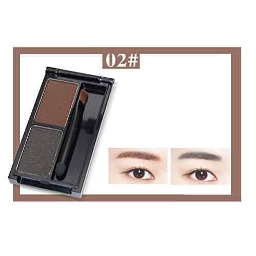 MMGN Palette de Poudre à Sourcils Eye Brow avec Pinceau et Miroir Set de Maquillage Cosmetics Brow Kit imperméable,02