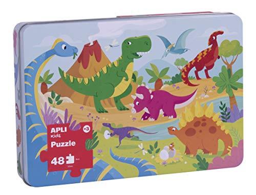 APLI Kids- Dinosaurios Puzle, 48 Piezas, Multicolor (17888)