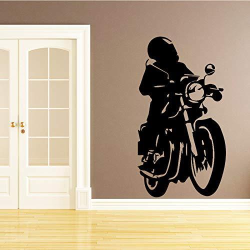 yaonuli Motorfiets mannen muur stickers Europese stijl behang woondecoratie benodigdheden verwijderbare slaapkamer zelfklevende muur