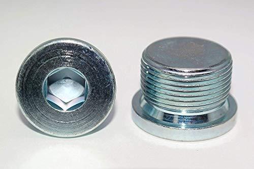 Verschlussschrauben mit Feingewinde DIN 908 Stahl galv. verzinkt Blindstopfen in Verzinktem Stahl 2 Stück M10x1