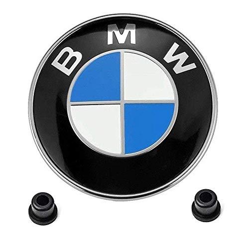 OSIRCAT for BMW Emblems Hood and Trunk,BMW 82mm Logo Replacement + 2 Grommets for ALL Models BMW E30 E36 E46 E34 E39 E60 E65 E38 X3 X5 X6 3 4 5 6 7 8