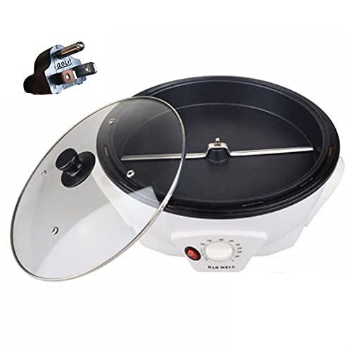 電動焙煎機 コーヒー焙煎機 コーヒーロースター 生豆焙煎器 electric coffee bean roaster 家庭用・業務用 焙煎機 自動 小型 軽量 温度調節可能0℃ - 240℃ ベーキング機 ポップコーンづくり/コーヒー豆焙煎等に適用