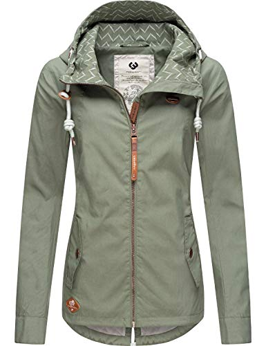 Ragwear Damen Übergangs-Jacke Outdoorjacke Monade Übergang Dusty Green20 Gr. M