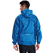 BALEAF Men's Rain Jacket Waterproof Raincoat Windbreaker Hoodie Packable Pullover Cycling Bike Running Gym Poncho Shell