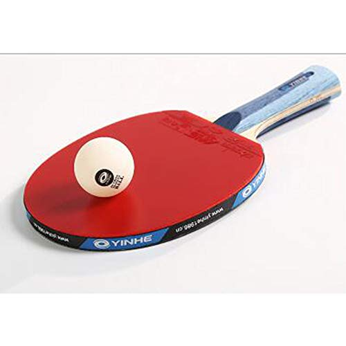 Find Discount SSHHI Senior Ping Pong Racket Set, Carbon-Table Tennis Paddle,Good Stability, Solid/As...