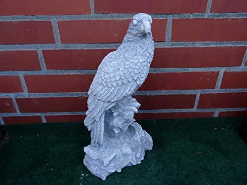 Mehrholz Steinfigur Vogel Adler Stein grau patiniert Weißbeton