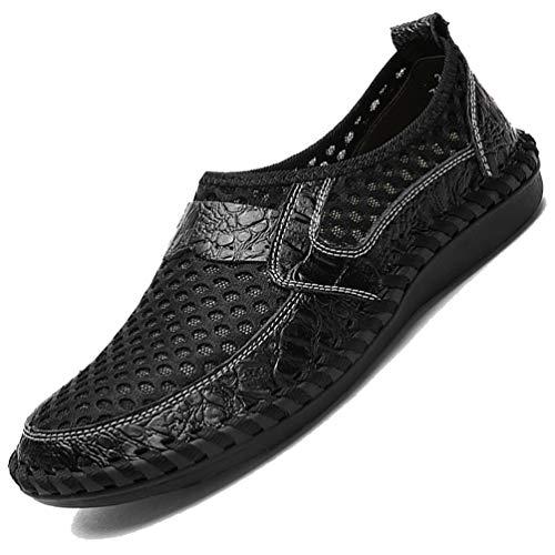 [MISIKEKE] ローファー ドライビングシューズ 夏 メンズ カジュアル メッシュシューズ モカシン スリッポン レザー 紳士靴 ウォーキングシューズ デッキシューズ 通気性 サンダル 軽量 スニーカー 通勤 大きいサイズ