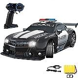 Nsddm Control Remoto Police Sports Car RC Chase DE Cop DE Alta Velocidad 1:12 Patrol de Control de Radio Escala vehículo con Faros