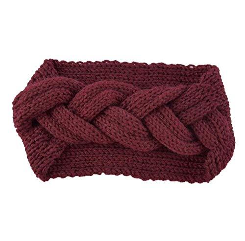 Turbantes para Mujer Diademas Warmer Knitted Headband For Women Crochet Bow Wide Stretch Hairband Headwrap Hair Accessories Lady Turban-3