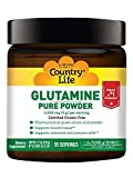 Country Life Glutamine Pure Powder - 5000 mg - 55 Servings - Supports Muscle Tissue - Supports Intestinal & Immune Cells - Pharmaceutical Grade Amino Acid - Gluten-Free