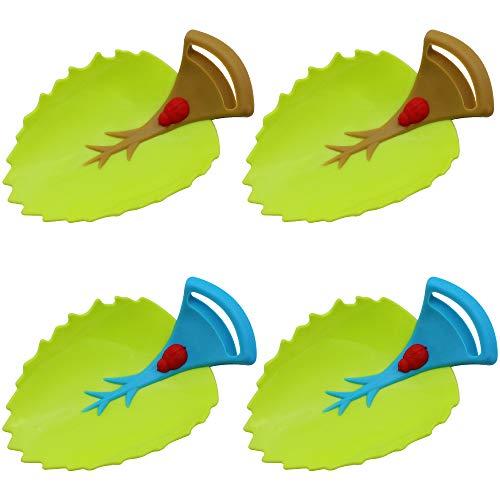 DXLing 4 unidades Grifo Extender para Niños Animados Fregadero de la Manija Extender Alargador Grifo Extensor Agua de Grifo Extensor para Niños y Niños Pequeño Cocina Baño Lavabo - Marrón y Azul