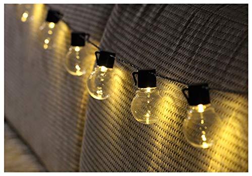 Guirnalda De Luces Solares, Luces De Globo De Cristal Para Exteriores Luces Solares Impermeables Para Jardín (blanco Cálido) Par(Color:Blanco cálido,Size:Transparent bulb 5 meters 20 lights + solar)