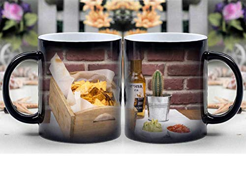 Amymami Personalized Gifts Heat Changing Magic Coffee Mug - Tequila Mexican Food Corona Beer Mexican Food