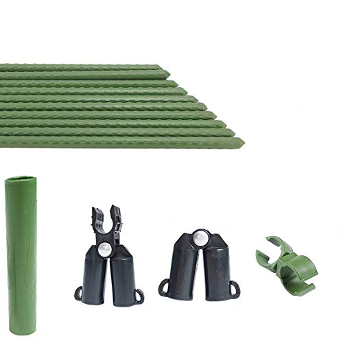 F.O.T Robuste Metall Garten Stakes 25 Stücke Gartenarbeit Unterstützung 1,97 Ft Kunststoff beschichtete Pflanzen Sticks (Klettergerüst)