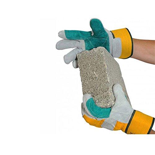 Último Industrial USDPR Double Palm Rigger guantes, 1par, un tamaño