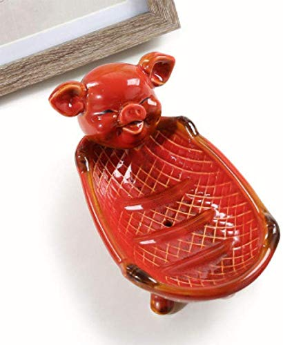Sculptuur Standbeeld Animal Sculpture Creatieve Cartoon Europese Keramische Schattige Dieren Mode Afvoer Zeepkist Zeeprek Veranda Sleutel Opslag Wastafel-E1