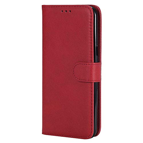 Bear Village® Hülle für Samsung Galaxy S8 Plus, Flip Leder Handyhülle Tasche mit Kartensfach, TPU Innere Ledertasche, 360 Grad Voll Schutz, Rot
