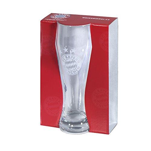 FC Bayern München witbierglas/Hefeweizenglas/Glas/Bierglas FCB - plus gratis sticker Forever München