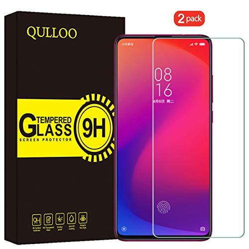 QULLOO Verre Trempé Xiaomi Mi 9T / Xiaomi Mi 9T Pro Protecteur D'écran Film Protection en Verre Trempé Écran Protecteur Dureté 9H Glass Screen Protector pour Xiaomi Mi 9T / Mi 9T Pro (2 Pièces)
