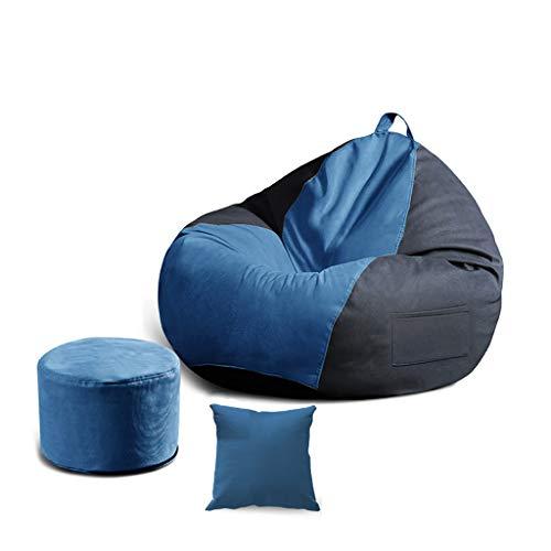 SD Bean Bag Chaise/Pouf Poire/1 Poches/avec Repose-Pied/avec Mousse Ultra Confortable/pour Enfants Et Adultes/Bean Bag/90 * 100 cm