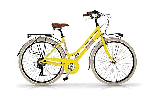 Via Veneto Retro-Fahrrad, Aluminium, Damenrad, von AIRBICI - gelb