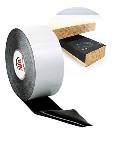 Abdeckband Holz & Unterkonstruktionen - einseitig selbstklebendes Terrassen-tape - Niederschlagschutz 80 mm x 1 mm x 20 m