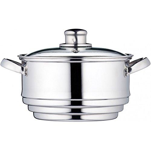 KitchenCraft Universaleinsatz für Dampfgarer in Geschenkbox, Edelstahl, Passt auf Pfannen mit einem Durchmesser von 16, 18 und 20 cm