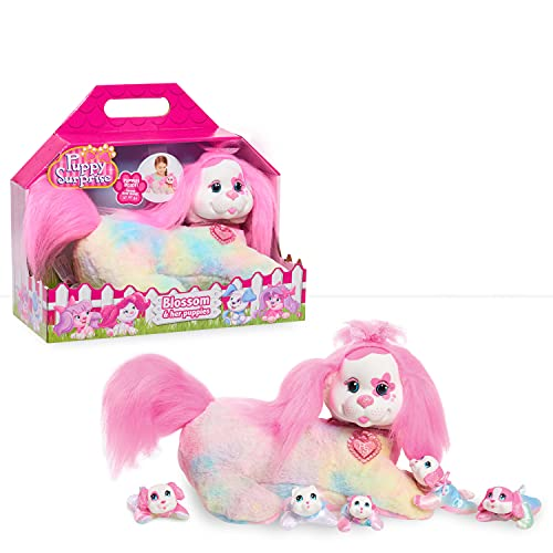 Puppy Surprise Plush, Blossom, Stuffed Animal, Dog, by Just Play