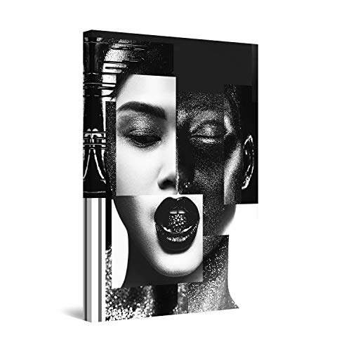 Startonight Canvas Wall Art Decor Black and White Abstract Woman Portrait Print for Bedroom 24' x 36'