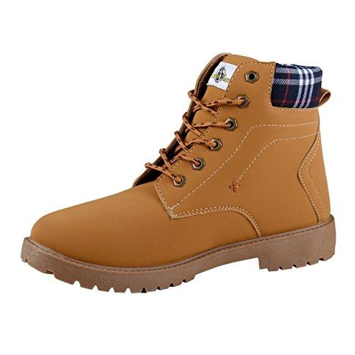 HSM Schuhmarketing Uncle Sam Herren Boots in Braun, Größe:42;Farbe:Camel