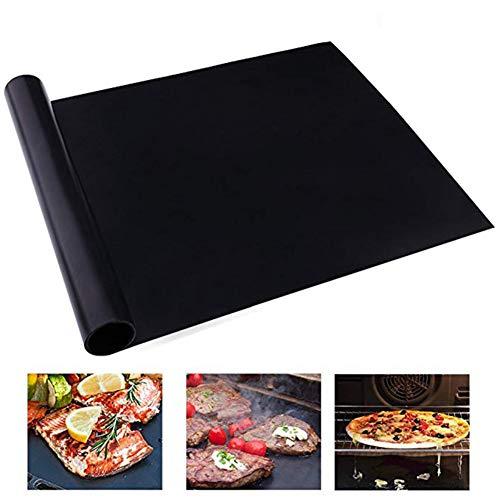 FTHKK 2-teilige Grillmatte, 40 * 34 cm Antihaft-Grillpad Wiederverwendbare Teflon-Kochplatte für Party-Grillmatten-Backbleche