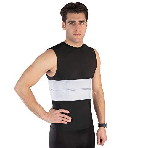 NYOrtho Elastic Rib Support Belt - Torso Compression Rib Brace Treatment Wrap for Natural Healing (Male - Fits 60