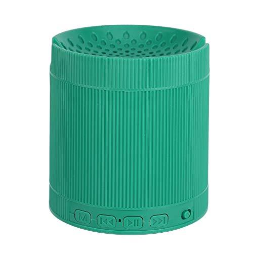 FAGavin música en estéreo 3D Verde Bluetooth Mini Sistema de Sonido del Altavoz inalámbrico portátil de Altavoces de Sonido Envolvente con Altavoces Soporte for teléfono móvil