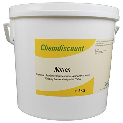 5kg Natron (Backsoda, Natriumhydrogencarbonat, Natriumbicarbonat, NaHCO3) in Lebensmittelqualität E500ii