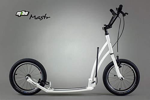 Unbekannt Mibo Mastr Tretroller Scooter Cityroller Klapproller für Erwachsene faltbar (weiß)