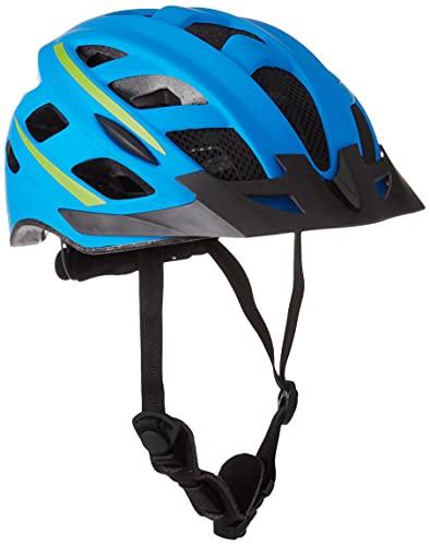 Fischer - Casco da bicicletta Urban per adulti, con anello interno regolabile e illuminato, certificato Ökotest, guscio interno in EPS, Unisex - Adulti, Casco da bicicletta, Montis blu, L/XL 58-61