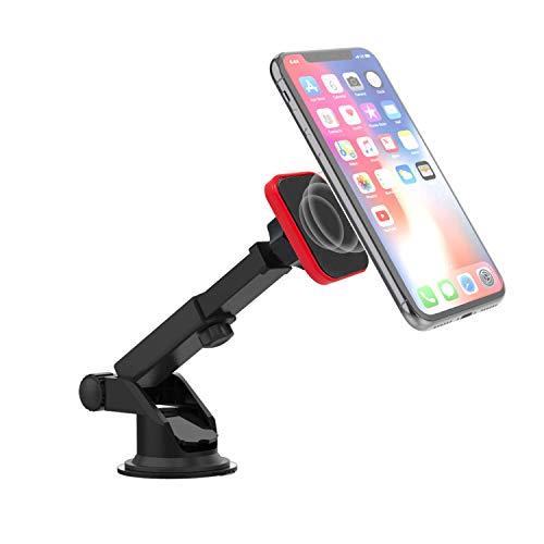 Premier Accessory Group Soporte magnético Universal Universal para salpicadero de salpicadero Extensible y Parabrisas para teléfonos Apple iPhone/Android, Set 3 Color Rojo