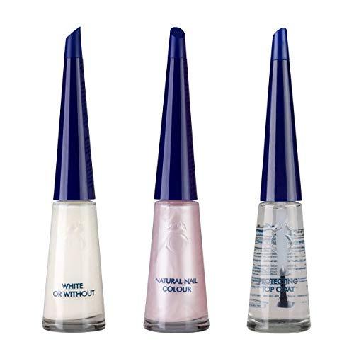 Herome French Manicure Set Glamour - 3 x 10ml. - parelwitte nagelranden en een zacht roze nagelbed met een vleugje parelmoer