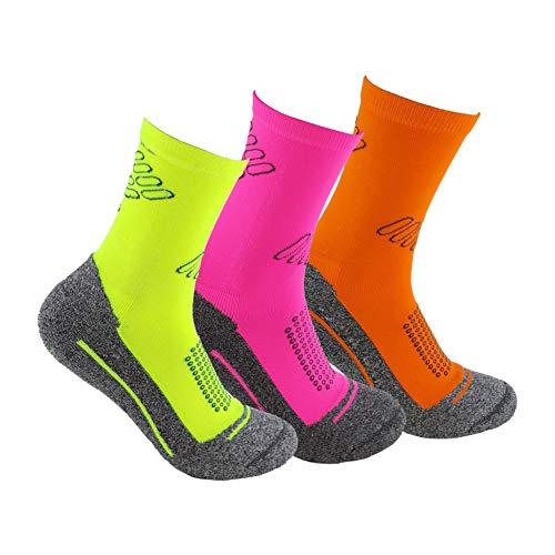 Calcetines deportivos (3 pares) SIN COSTURAS de alto rendimiento para hombre o...