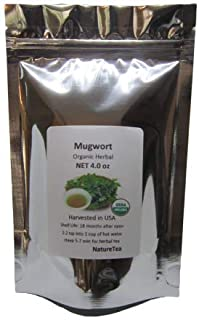 Organic Mugwort - Artemisia vulgaris Loose Leaf by Nature Tea (4 oz)