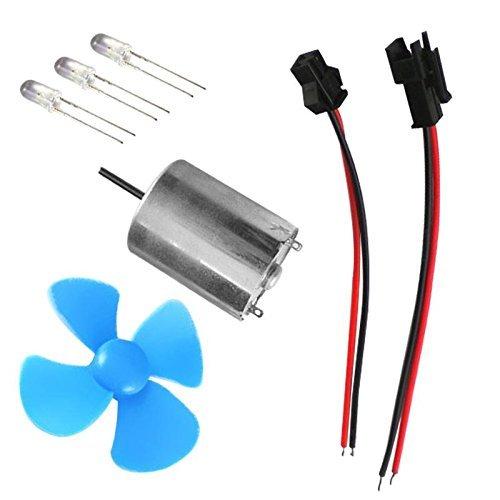 SGerste 60mm DIY Micro Wind Generator Windkraftanlagen Motor Modell Kits Wind Power Lehrwerkzeug