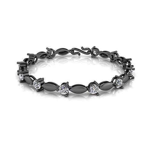 Jbr Round Cut Diamond Bracelet In Sterling Silver Tennis Bracelet for Men and Women