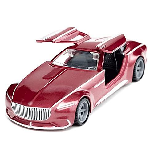 Compatible con Benz Maybach Modelo de automóvil Modelo Coche de fundición 1:50 Simulación de aleación a escala Pull Back Sound and Light Model Mini Vehículos Juguetes Regalo Para Niños Niños Andddlers