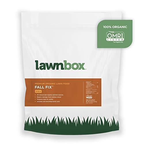 Lawnbox Fall Fix 5-5-5 100% Organic Grass Fertilizer 12.5 lb Bag Covers 2,500 sq ft