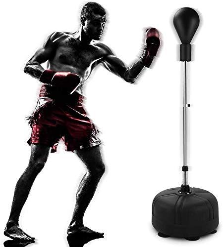 Ejoyous Pro Punchingball Boxstand Höhenverstellbarer Standbox-Trainer Punchingball Boxen Set Punchingball Standboxsack mit Boxhandschuhe