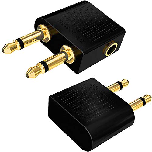 Act 2 x Premium Gold Plated Airplane Flight Adapters Converters for...