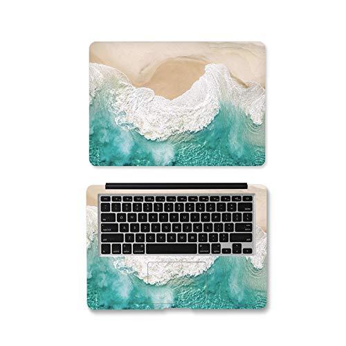 Peach-girl - Carcasa para Lenovo Dell/HP/ASUS/Xiaomi Air 13.3 y Macbook, adhesivo de ondas de marmbre para ordenador portátil 12 13 14 15.6 17 pulgadas - Jd-324 -Custom Size